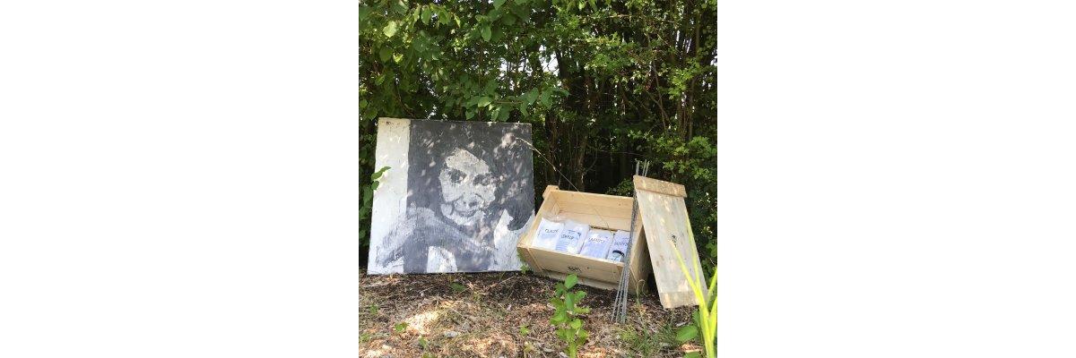 Beton auf Leinwand - so malt man Bilder für den Garten - Beton auf Leinwand