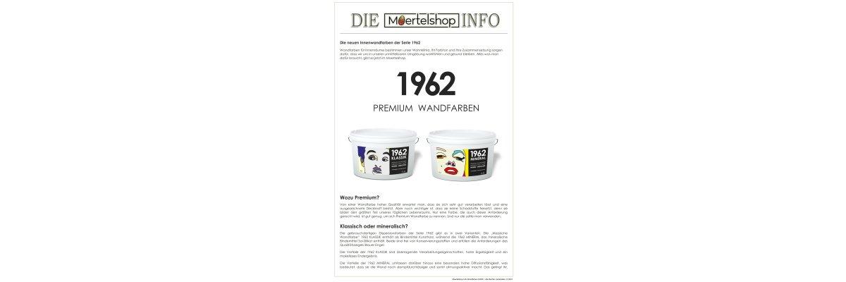 Die neuen Wandfarben der Serie 1962 - Die neuen Wandfarben der Serie 1962