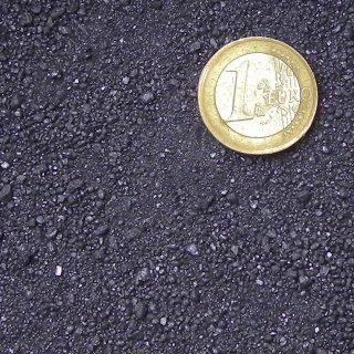 Magnetitsand schwarz, Körnung 0-2 mm, erdfeucht