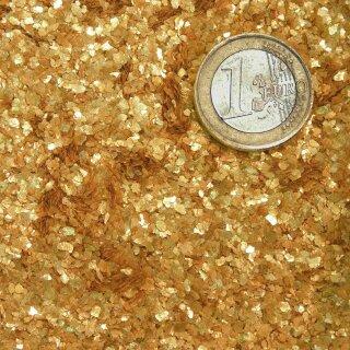 Goldglimmer Muskovit calciniert, Körnung 1-2 mm