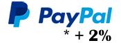 Zahlung mit PayPal zzgl. 2% Gebühren